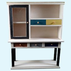Vintage Modern Entertainment Center 1:12 Dollhouse Miniature