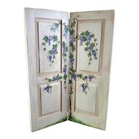 Artist Rebecca Brown PAINTED ROOM DIVIDER 1:12 Dollhouse Miniature
