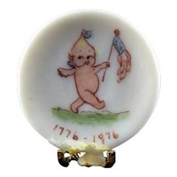 Artist Made KEWPIE Display PLATE 1:12 Dollhouse Miniature