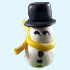 Vintage Artist SNOWMAN CHRISTMAS Decoration TOY 1:12 Dollhouse Miniature
