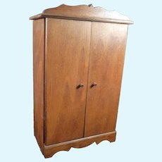 Vintage Wood ARMOIRE 1:12 Dollhouse Miniature