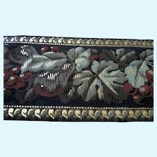 """Antique 19th Century C.1880 Hand Painted 13.5"""" WALLPAPER for Room Box Dollhouse"""