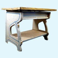 Antique c.1890 German Gottschalk LARGE Table Desk Dollhouse Miniatures