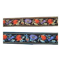 Antique C.1880 Set of 2 Victorian Hand Painted WALLPAPER Trim Roombox Dollhouse