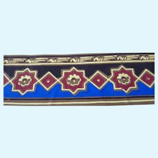 Antique C.1880 Victorian Hand Painted WALLPAPER Trim Roombox Dollhouse Sample