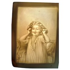 Antique Victorian LITHOPHANE for 1:12 Dollhouse Miniature