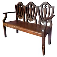 RARE Deadstock Vintage TYNIETOY Tynie Toy Mahogany Hepplewhite Settee Sofa