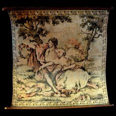 Vintage Dollhouse Miniature TAPESTRY Wallhanging Made in France