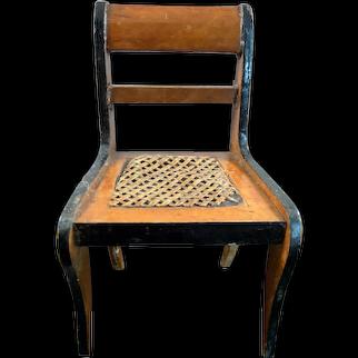 Antique German BEIDERMEIER Cane Seat CHAIR 1:12 Dollhouse Miniature