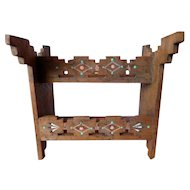 Fantastic Vintage Southwest Native American Painted Western Saddle Rack or Bookcase Dollhouse Miniature