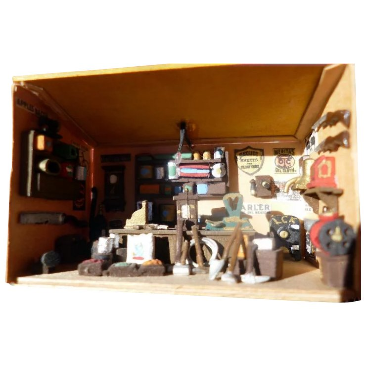 Super Miniature 1 5 Room Box For Dollhouse Old West General Store