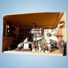 "Super Miniature 1.5""  Room Box for Dollhouse Old West General Store Diorama & Table Vintage"