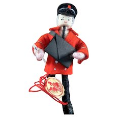 """Vintage New in Box ANNE-BEATE 4"""" DOLL Postman Denmark Wire Wrapped"""