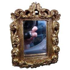 Vintage ORNATE GOLD MIRROR 1:12 Dollhouse Miniature