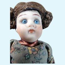 "Antique 4.5"" Kestner MIGNIONETTE All Bisque DOLL Dollhouse Miniature"