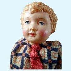 "Vintage c.1930 German Celluloid 4"" BOY DOLL Dollhouse Miniature"