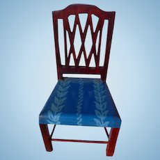 RARE Vintage TYNIETOY Tynie Toy Blue Painted Sheraton Chair Dollhouse Miniature