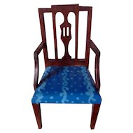 RARE Vintage TYNIETOY Tynie Toy Blue Painted Sheraton Mt. Vernon Arm Chair Dollhouse Miniature
