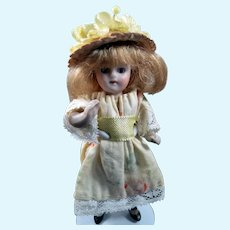 "Antique 4"" Kestner MIGNIONETTE All Bisque DOLL Dollhouse Miniature"