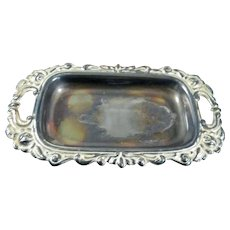 Antique c.1900 German SERVING TRAY Silverplate 1:12 Dollhouse Miniature