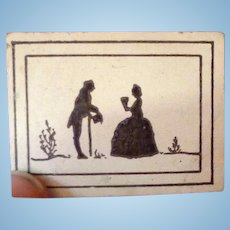 RARE Vintage TYNIETOY Tynie Toy SILHOUETTE Picture Dollhouse Miniature Accessory