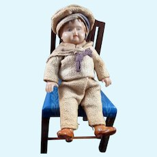 "Vintage c.1920 German Celluloid 3.5"" BOY DOLL Dollhouse Miniature"