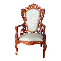 Vintage Limited Edition Ginsburg Signed Bespaq CHAIR 1:12 Dollhouse Miniature