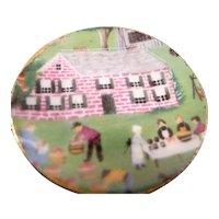 Artist Diane Foster DISPLAY PLATE Rural 1:12 Dollhouse Miniature