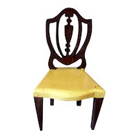 RARE Vintage TYNIETOY YELLOW Painted Hepplewhite Chair Dollhouse Miniature