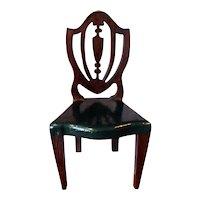 RARE Vintage TYNIETOY GREEN Painted Hepplewhite Chair Dollhouse Miniature