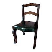 RARE Vintage TYNIETOY GREEN Painted Victorian Chair Dollhouse Miniature