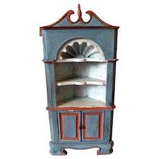 FABULOUS Chippendale Style Corner Cabinet Dollhouse Miniature