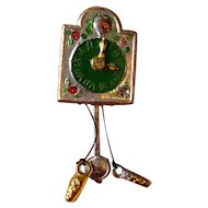 Miniature Dollhouse Pre WWII Germany Antique Soft Metal Cuckoo Clock 1:12
