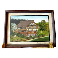 Lovely Vintage Colored Limited Edition Artist Print Dollhouse Miniature Picture