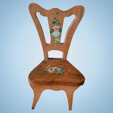 RARE Set of 5 Hand Painted Artist Wooden Chairs Dollhouse Miniature From Museum