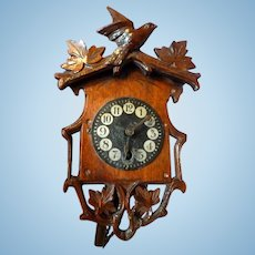 VINTAGE Hand Carved Miniature Cuckoo Clock Dollhouse Miniature From Museum