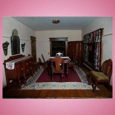 Vintage John Masterman Artist 3 Room Box Dining Family Hall Dollhouse FROM MUSEUM