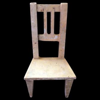 Antique German Gottschalk Dollhouse Miniature Chair For Room Box