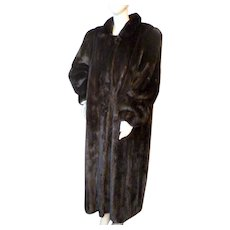Fantastic Full Length BLACK MINK Fur Coat Evans Collection M-XXL