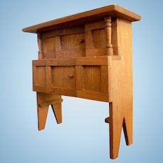 Lovely Artist Made Wood Cabinet Dollhouse Miniature