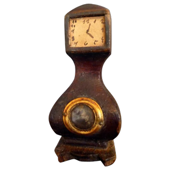 Lovely Vintage 1920s/30s Floor Clock Dollhouse Miniature