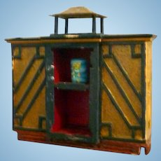 Vintage John Masterman Artist Chinese Cabinet 1/24 Dollhouse Room Box Miniature
