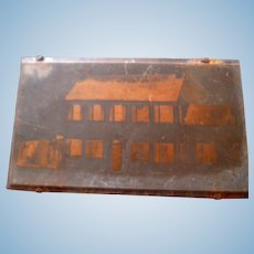 OOAK 1920s TYNIETOY Catalog Copper Printing Block Mansion Dollhouse From Museum