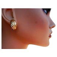 BEAUTIFUL Vintage 14 Karat Gold Earrings 5.2 Grams