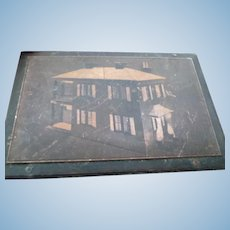 "OOAK 1930s TYNIETOY Catalog Copper Printing Block ""New Model"" Spanish Dollhouse FROM MUSEUM"
