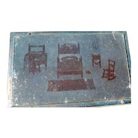 1920s TYNIETOY Catalog Copper Printing Block Dollhouse Furniture FROM MUSEUM