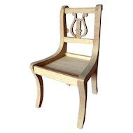 Vintage TYNIETOY Tynie Toy Lyre-Back  DUNCAN PHYFE Chair Dollhouse Miniature