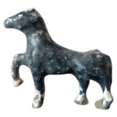 Vintage Antique Miniature HORSE Metal Lead Pewter Animal Toy Dollhouse Miniature Farm