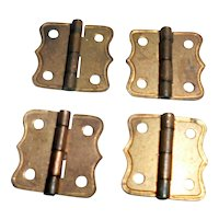 Vintage 1920s(4)TYNIETOY BRASS Furniture HINGES Dollhouse Miniature