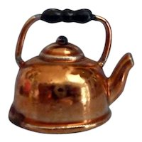 WONDERFUL Vintage Copper Tea Kettle Dollhouse Miniature From Museum